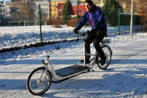 Long Harry Transportrad im Wintereinsatz