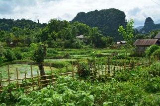 bike touring Laos