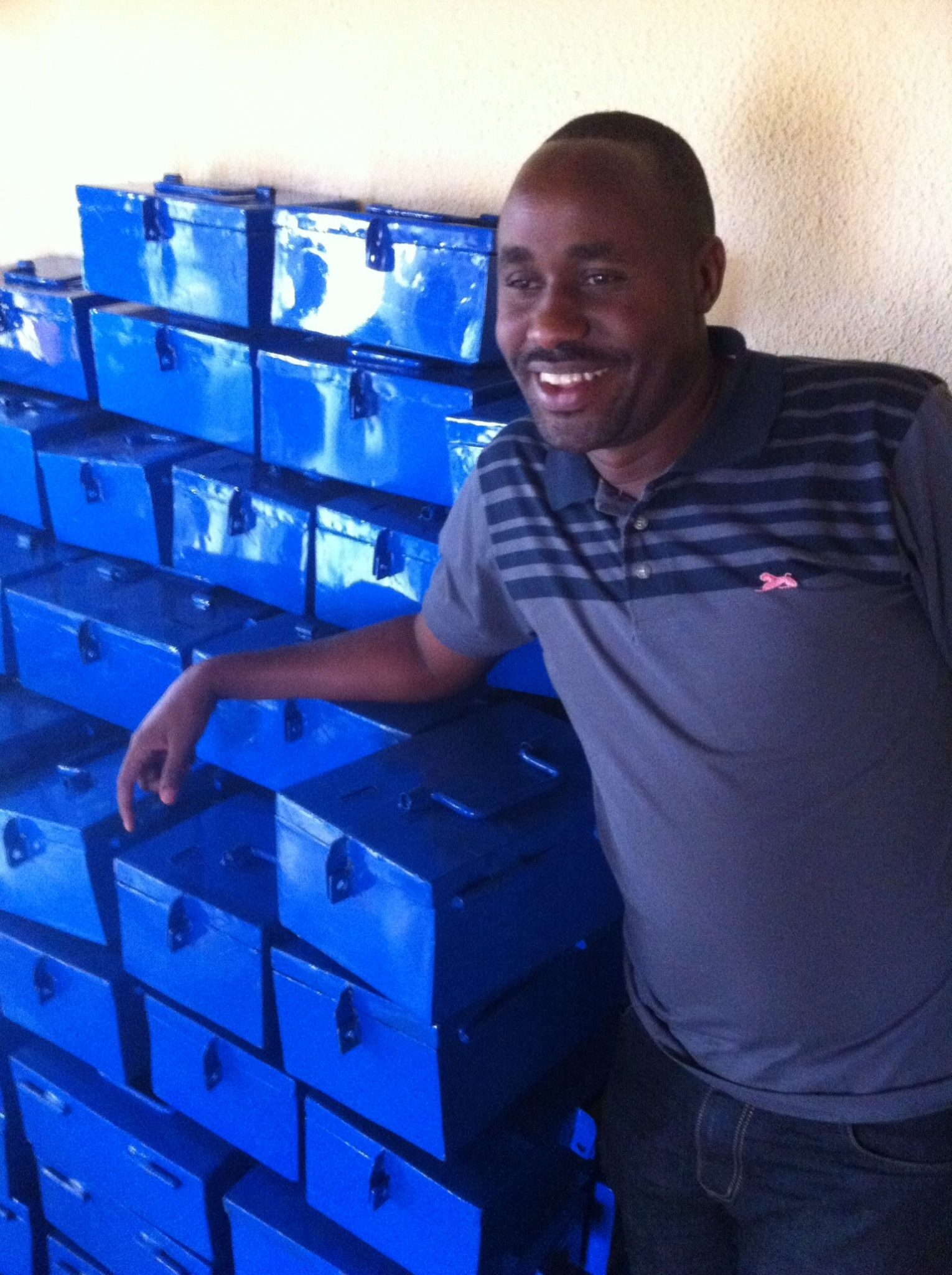 Chriso with saving boxes