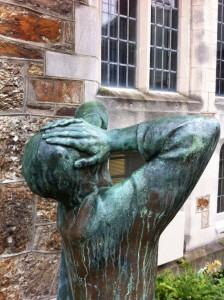 Statue in Harvard Yard