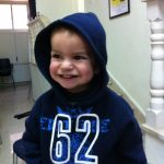 A child at Ramallah Friends Meeting