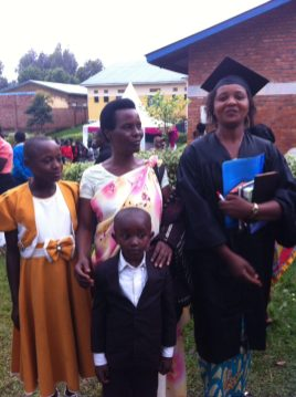 Charlotte with family after graduation from Friends Theological College