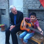 Prabal gets a guitar lesson