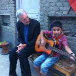 Prabal gets a guitar lesson