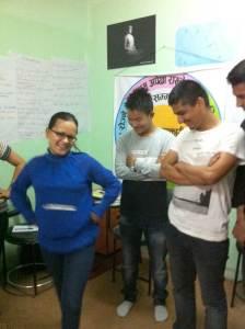 Dancing during a break