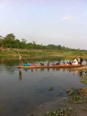 Wooden Canoe ferry