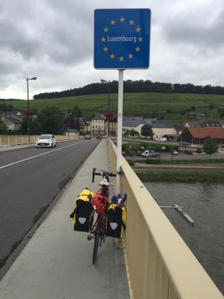 entering Luxembourg