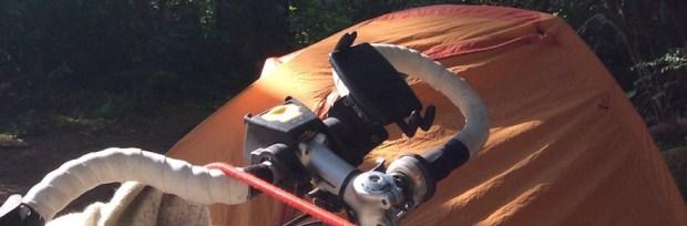 tent and handlebars