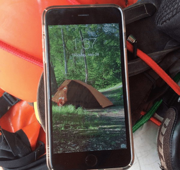 bike touring recovered iPhone