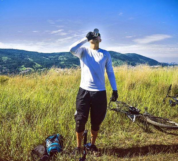 drinking water bicycle tour