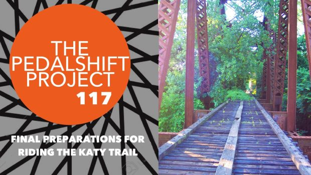 preparations for riding the Katy Trail across Missouri