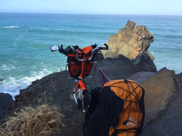 bicycle touring Big Sur by Brompton