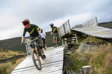 Image taken during the Hardlines media session with Gee Atherton at Dify Bike Park, Wales on July 24, 2019