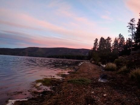 Sunrise on Pualina Lake.