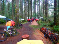 Our campsite sprawl.