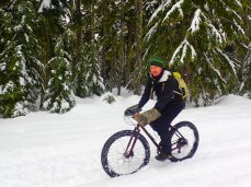 It took us a bit to remember some of the little tricks needed for riding in the snow.