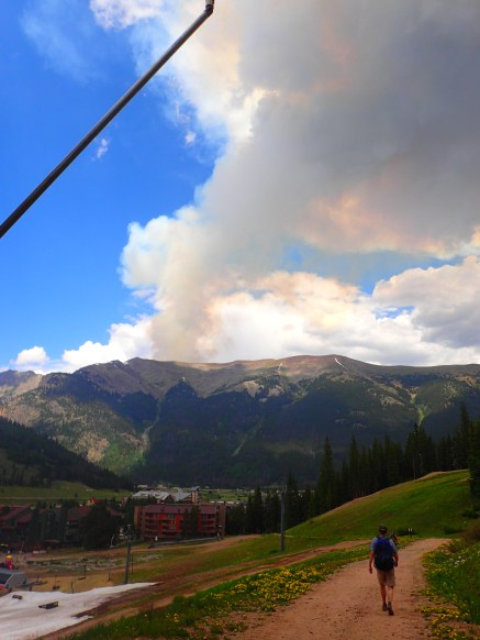 What the fire looked like from Copper Mountain Resort.