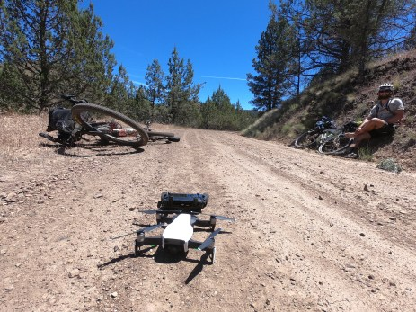 One of our favorite sections of the entire trip was this soft dirt road somewhere between Prineville and Antelope. We called it the sandbox section because it was one of the most playful sections of road on the trip, with our bikes drifting, sometimes both wheels, across the entire road.
