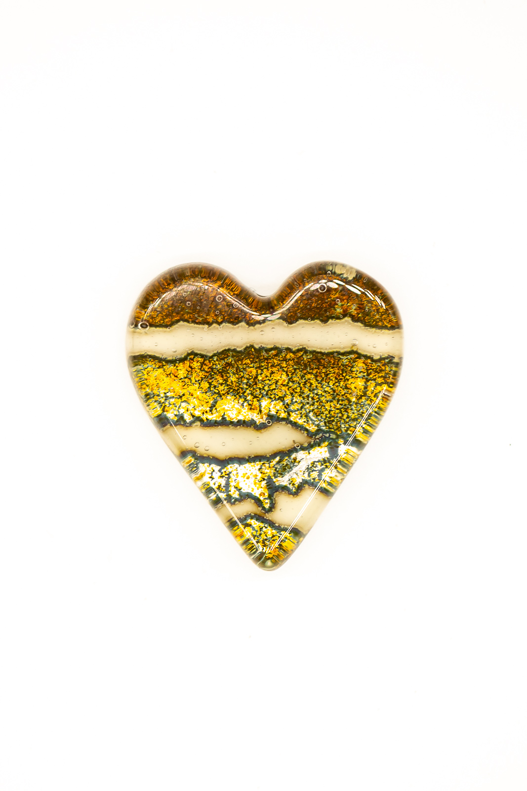 Lucie Harris Glass, fused glass heart shaped jewellery ideal for valentines gift