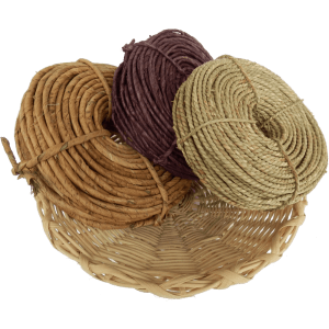 Naturmaterialien zum Flechten. Besondere Kreationen durch das verflechten von Maisschnur Seegras Elha Schnur und vielen weiteren Produkten aus der Natur. Gedreht und verflochten.