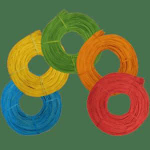Frische Farben für Ihr Projekt! Peddigrohr farbig auf Rolle zu 500g