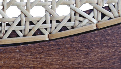 Abdeckschiene Abdeckband Anwendung Stuhlgeflecht