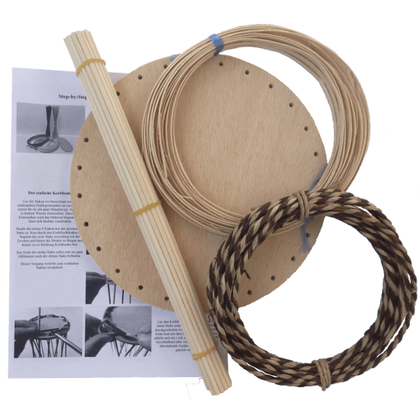 Korbflechtset runder Korbflechtboden mit Seegras & Peddigschiene