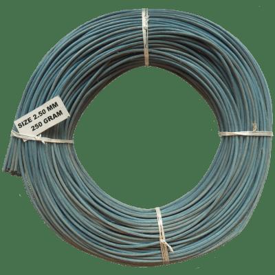 Peddigrohr Flechtmaterial blau 250g Rolle