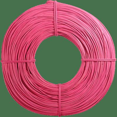 Peddigrohr intensiv gefärbt pink rosa 2,25mm 500g Rolle