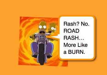 Road Rash Friction Injury