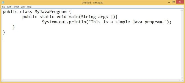 How to Write a Simple Java Program - Step by Step Procedure with