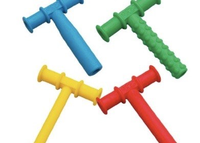 Chewing – Chewy Tubes Teether Combo, 4 Pack – Blue/Green/Yellow/Red