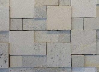 Mosaico de Pedra São Tomé Branca Serrada 5x5, 5x10, 10x10 cm