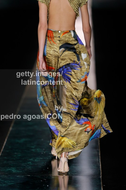 SAO PAULO, BRAZIL - MARCH 20: Água de Coco front stages its Summer 2013/2014 Collection during S‹o Paulo Fashion Week (SPFW) on March 20, 2013 in S‹o Paulo, Brazil. (Photo by Pedro Agoas/LatinContent/Getty Images)