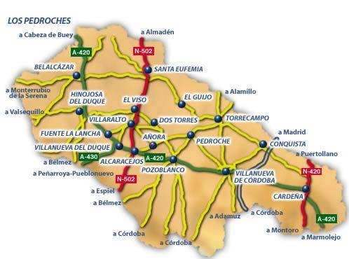 Mapa de Los Pedroches II