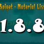 Lista de materiales en la 1.8.8