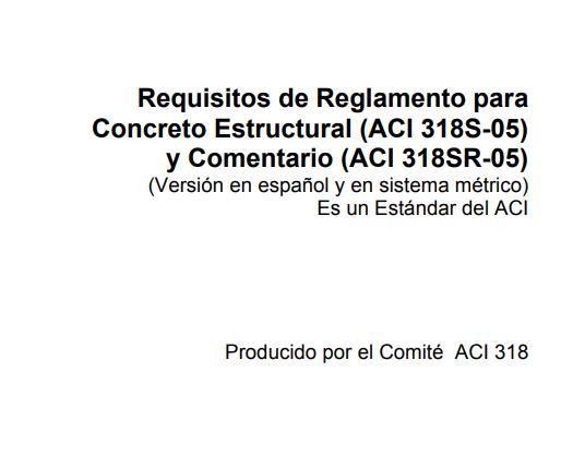 Descargar Norma ACI 318-2005 en Español