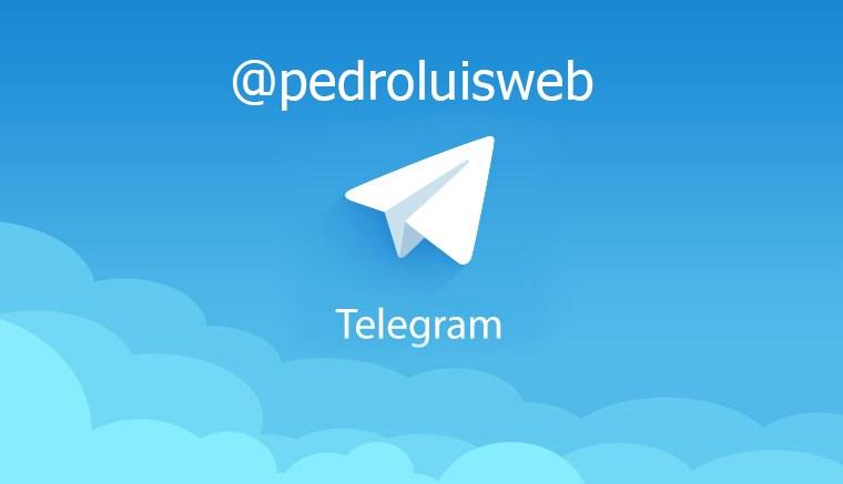 pedroluisweb telegram - Nuestro nuevo canal en Telegram