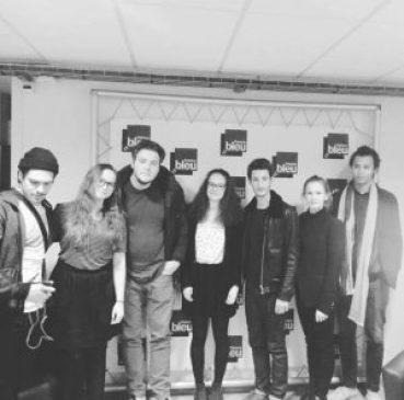 Rencontre avec l'équipe dans les studios France Bleu Sud Lorraine à Nancy