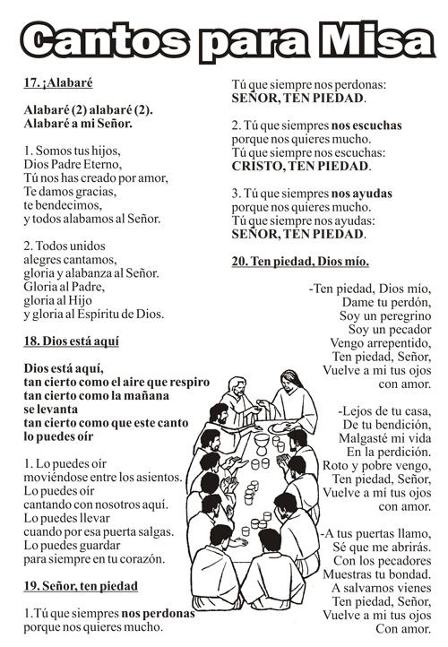 Nuevos Cantos de Misa de Domingo
