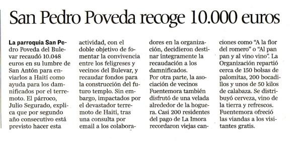 Más de 10.000 € recaudados