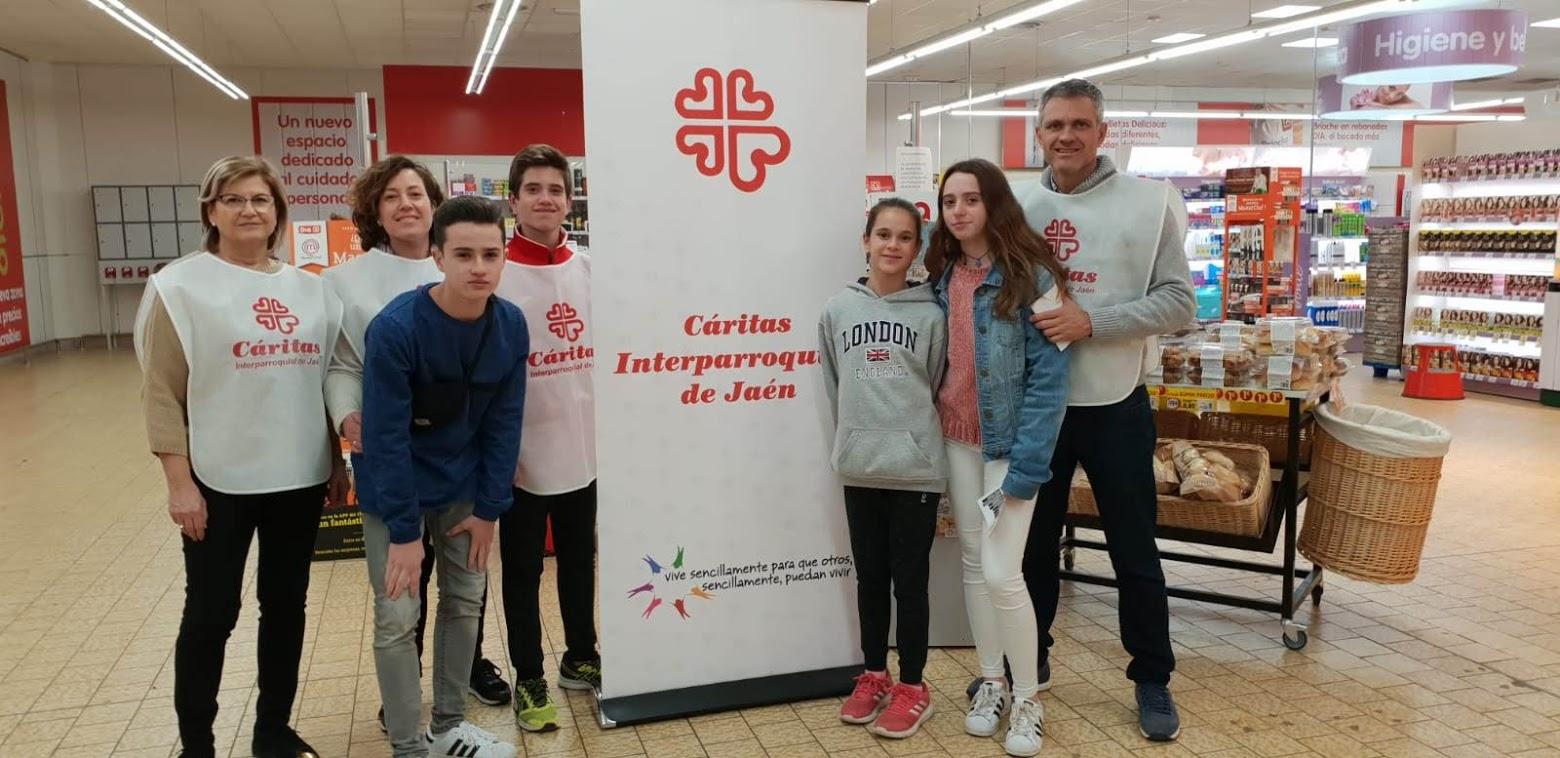 Recogida de alimentos para Cáritas de Jaén