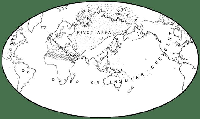 Heartland v. Halford J.Mackinder (Originalquelle: Geographical Journal 23, 4.4.1904)