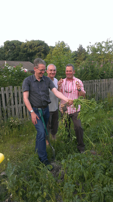 Excited gardeners