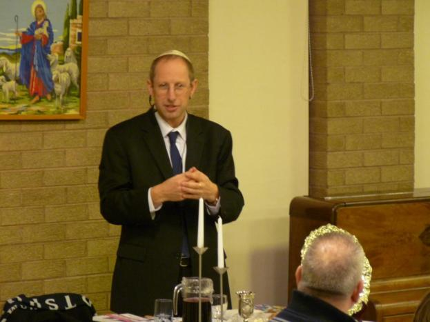 Barry Barnett, from Jews for Jesus, who led the evening