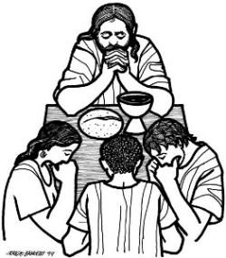 Jesus prays...