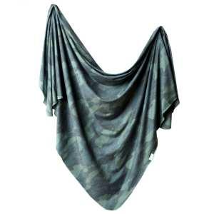Copper Pearl Hunter Knit Swaddle Blanket
