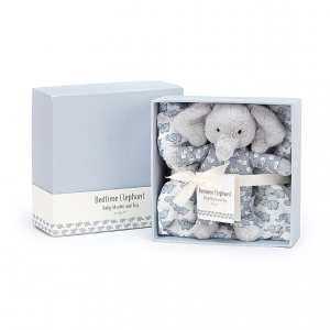 Jellycat Bedtime Elephant Muslin & Toy Set
