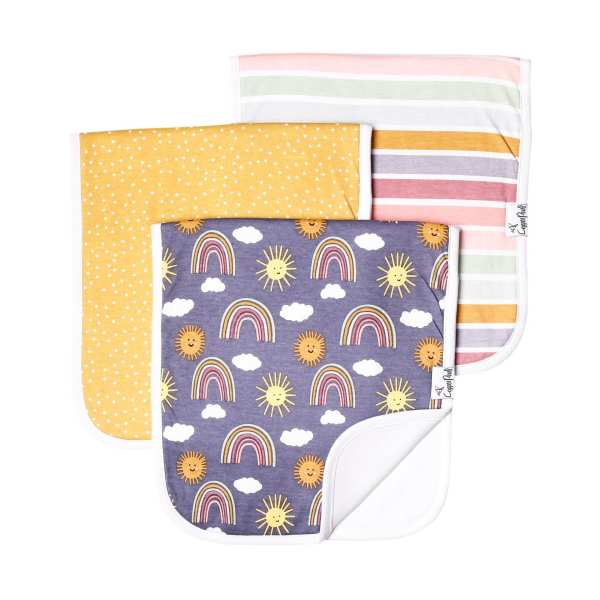 Copper Pearl Hope Burp Cloth 3pack