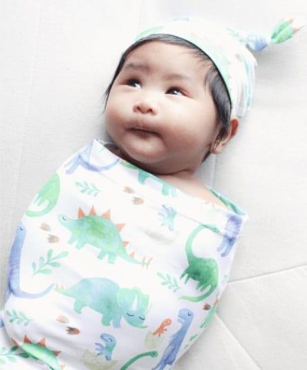 Itzy Ritzy Cutie Cocoon and Hat Dino